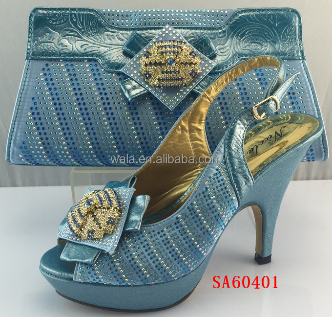 thin heel with SA60401 blue italian shoulder set shoes and shoes bag high purse YR8vwaqxR