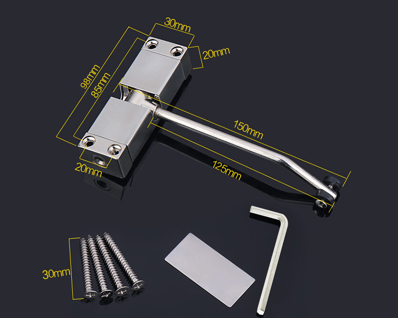 High security zinc alloy floor hinge light duty small door closer