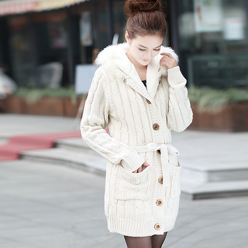 Long Wool Cardigan Sweaters Baggage Clothing