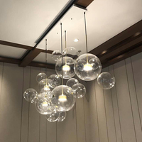 modern event home decoration pendant lamp LED crystal ball chandelier
