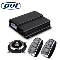 PKE car security alarm push button start stop system with remote start passive keyless entry function