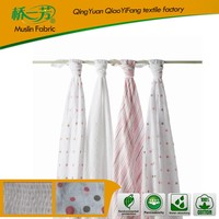Wholesale organic woven cotton baby thick fluffy throw blanket