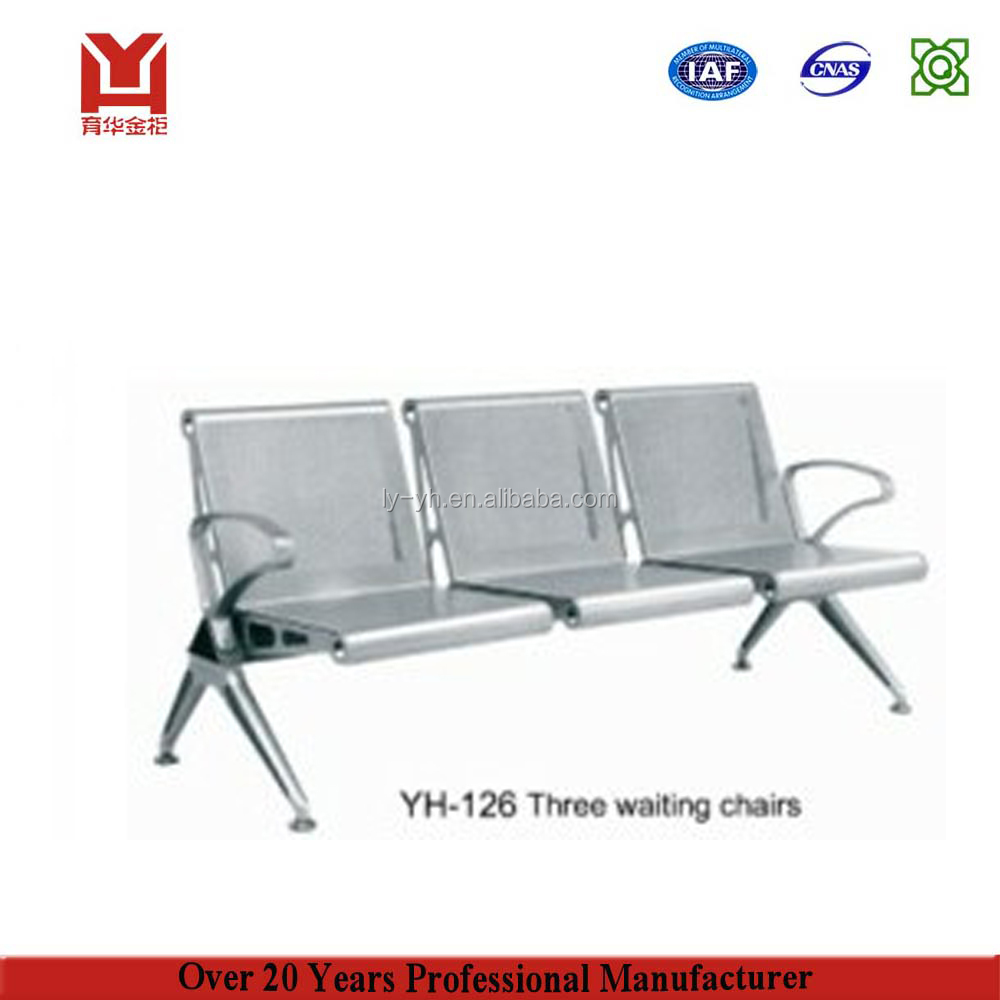 Factory Direct Sale Metal Airport 3-Seater Waiting Room Chairs