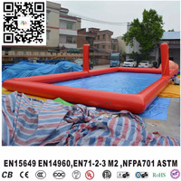 Hot Sale Inflatable Water Voolleyball Court Soap football field beach volleyball pitch