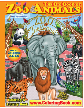 Zoo Animals Really Big Coloring Book - Buy Coloring Books Product on ...