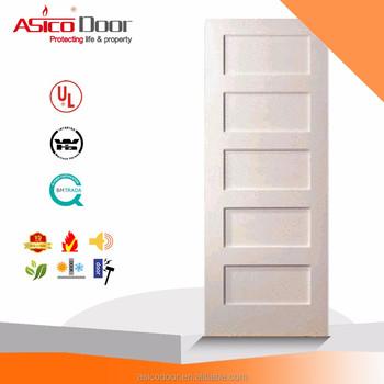 asico cheap 5 panel shaker interior wood wooden mdf door buy