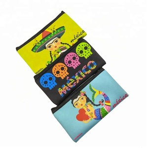 Custom Neoprene Pencil Bag Pen Pouch Case in Mexico Girls Full Color Print
