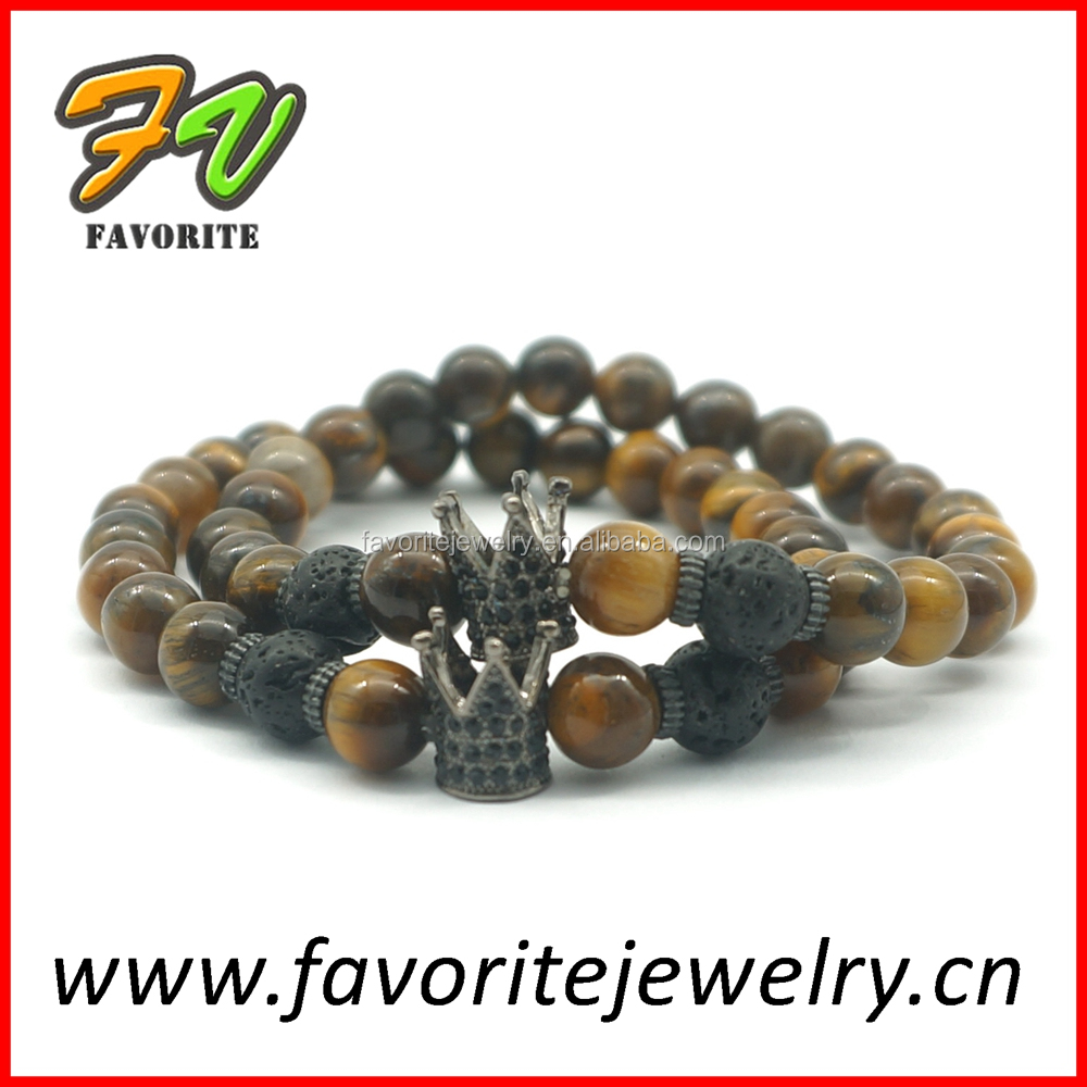 8mm tiger eye stone beads bracelet