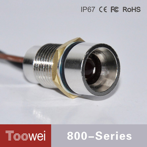 Toowei waterproof 220V 12MM red oven indicator light with red light and wire IP67