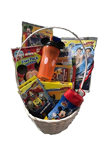 Mickey Mouse Easter Gift Basket /Set For Baby Boy/Toddler(3-10 Years),10+ Pieces Bundle Filled Basket of Boys Items | Easter Baby Boy Gift Basket | Kids Gift Basket For Easter, Birthday Etc.