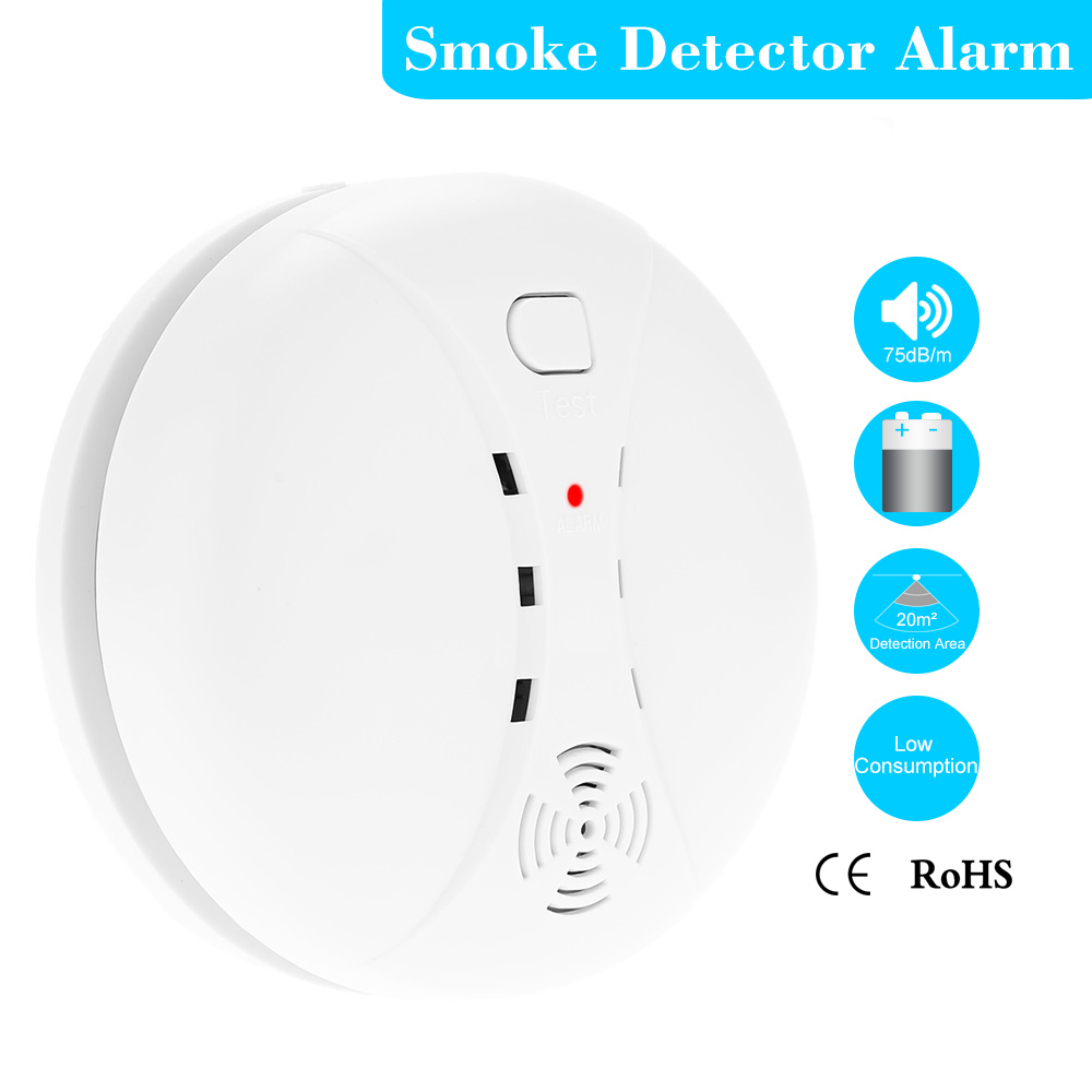 Smart House High Sensitive Photoelectric Home Security System Cordless Wireless Smoke Detector Gas Fire Alarm Sensor