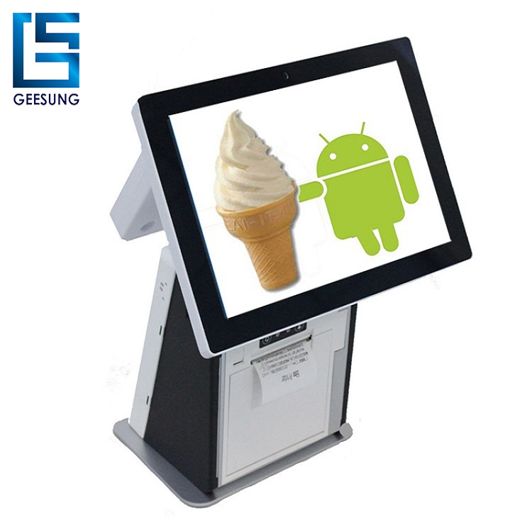 Hot sale Android Pos with Printer and rear customer display/all in one pos system