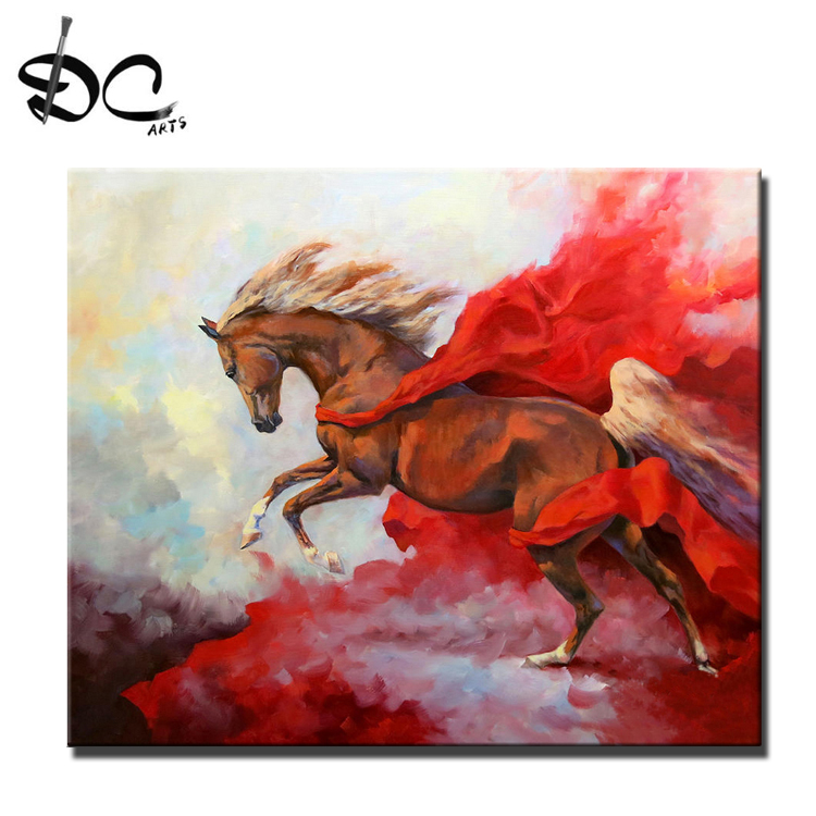 Newest <strong>Picture</strong> Of Handmade Art Painting Horse Wall Decor Painting