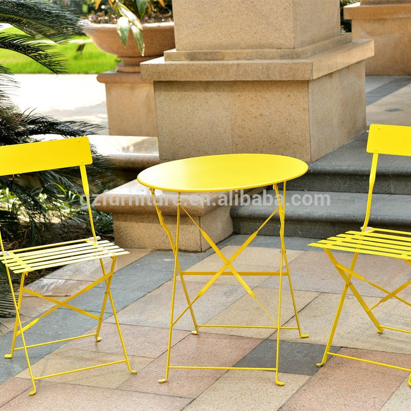 Coffee Shop Matel Outdoor Garden Sets Bistro Tables And