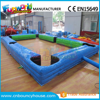 inflatable snooker pool table human billiard football billiards