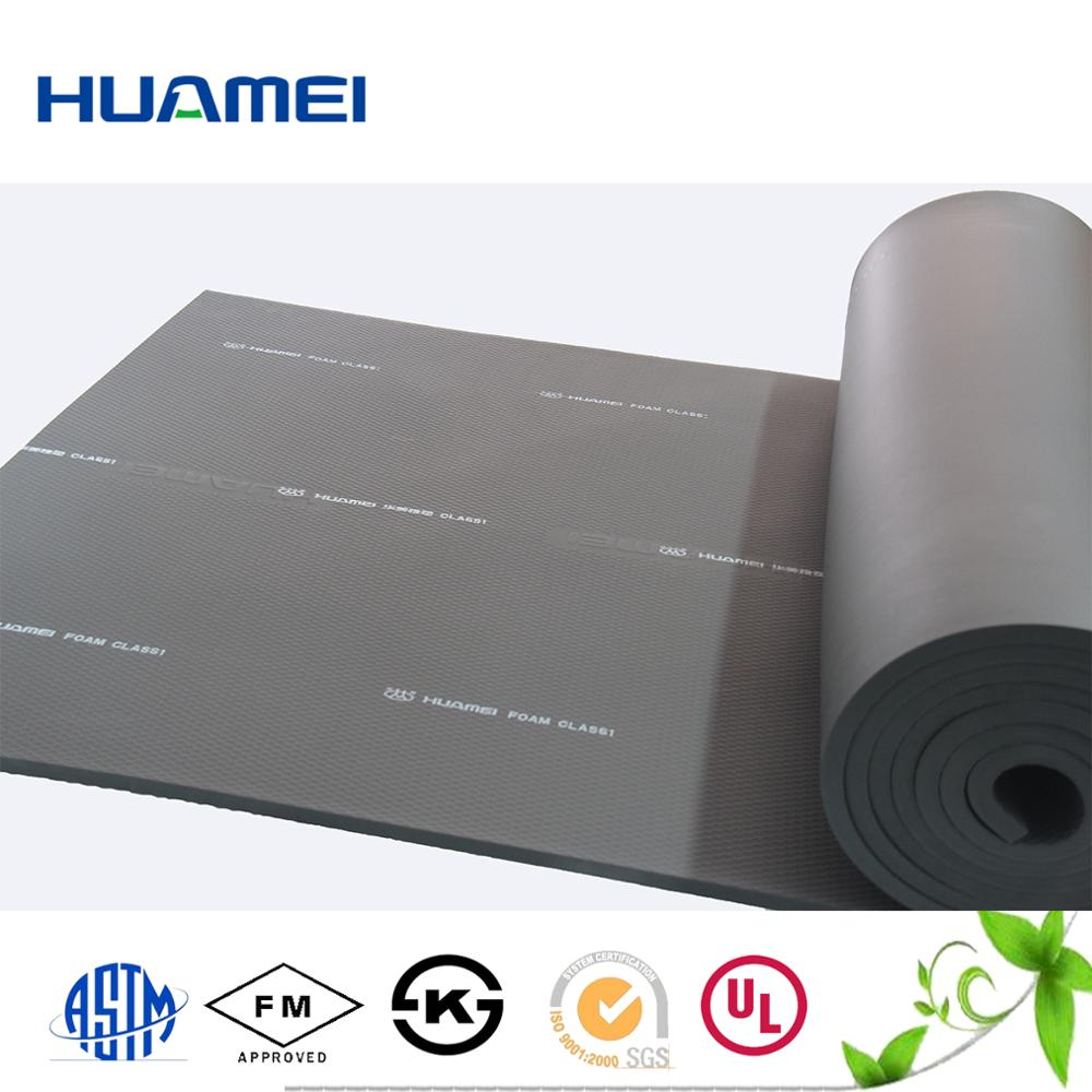 Rubber foam sheet roll/pipe rubber elastomeric thermal insulation material