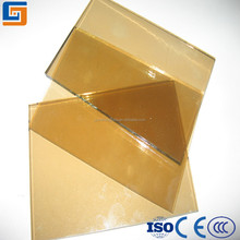 4-19mm gold tempered tinted glass