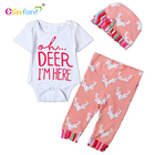 Elinfant Newborn Girls Clothes Baby Romper Outfit Pants Set Long Sleeve Winter Clothing