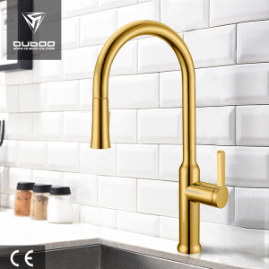 Kitchen Golden Plated Sanitary Ware Water Tap Faucet