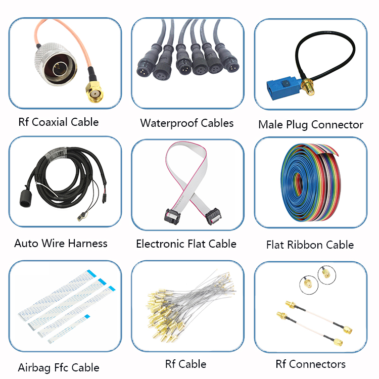 2 Pin Plug Led Outdoor Light 5 Pin 6 Pin Wire Cable IP68 High Level Waterproof Connector Cable