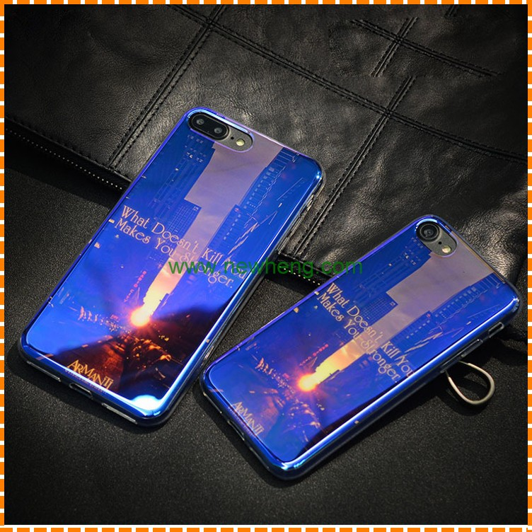 New design blue ray soft tpu back cover phone case for iphone 7