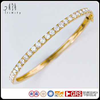 cut bracelet diamond white eternity bangles bangle yellow princess gold and