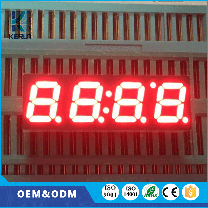 Small size 16 pins red color 0.28 inch 4 digit customized 7 segment lcd display
