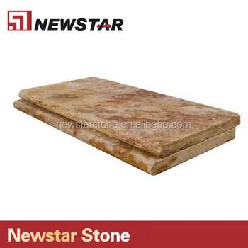 China Natural Stone Travertine Stair Treads