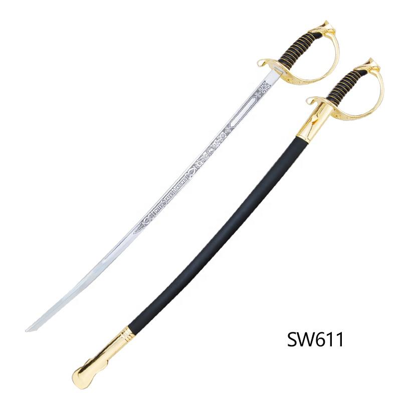 SW611 memuru dekoratif kılıç metal saplı