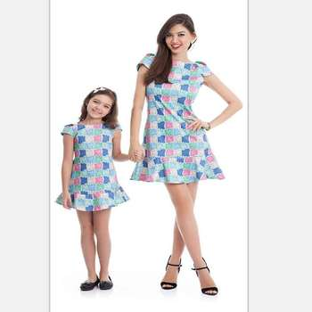 4c32abf32be6b Hot Sale Family Matching Clothing Mother Daughter Print Party Dress,Cap  Sleeve Colorful Pattern Mommy And Me Dress - Buy Family Matching  Clothing,Baby ...