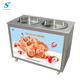 Ice pan machine roll fry ice cream product line