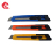 Custom Auto-Retractable Blue Auto-Loaded Hand Tools Snap-Off Blade Utility Cutter Knife For Heavy Duty