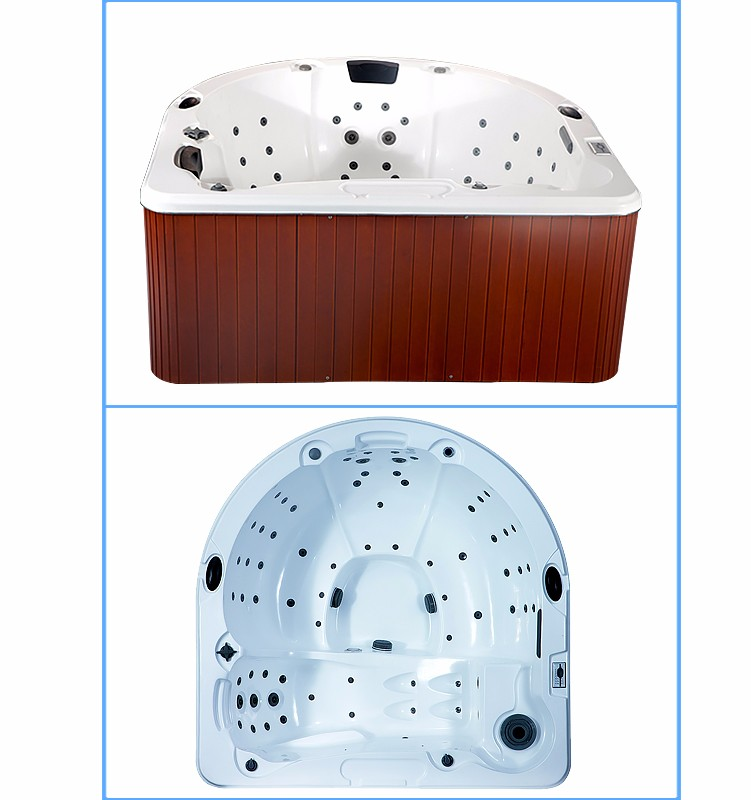 2017 New Design 4 Person Acrylic Balboa System Whirlpool Spa Hottub
