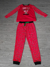 Women's CVC fleece Pajama 2 Piece Sleepwear Set with screen print
