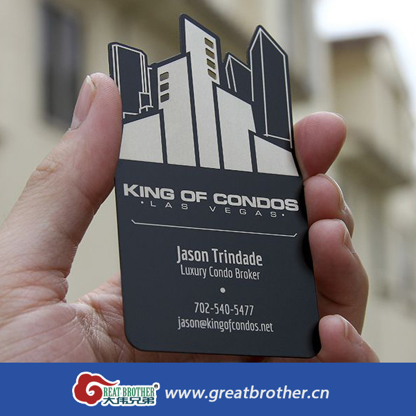 Custom Metal Business Card Cards Plastic Transparent Printing