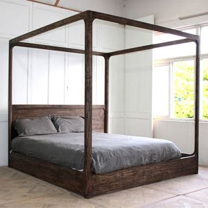Solid timber classical cot bed wood furniture cebu queen size bed