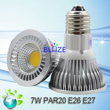 7W Dimming PAR 20 7 Watt cob led spotlight e27