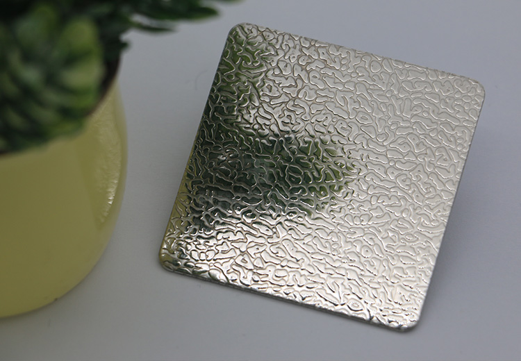 Decorative 201 304 embossed stainless steel sheet for bathroom
