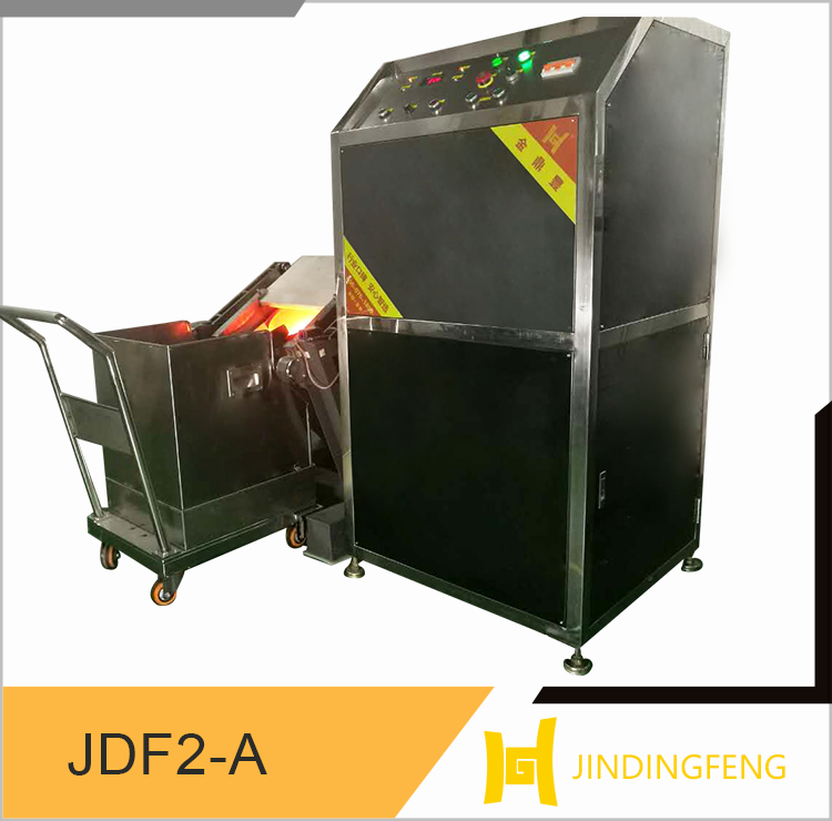100KG Infineon IGBT atomatic tilting induction gold melting furnance
