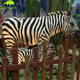 KANOSAUR1795 Zoo decoration high quality lifesize zebra animatronic model