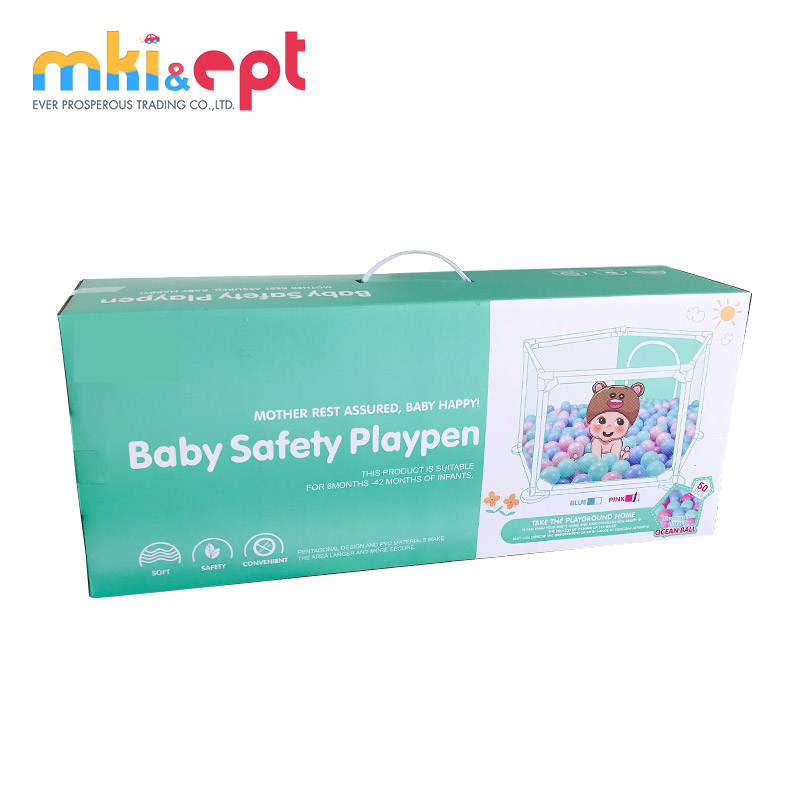 Safety Folding Plastic Playpen For Baby