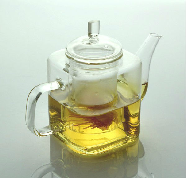 500ml Double Walled Glass Teapot With Filter