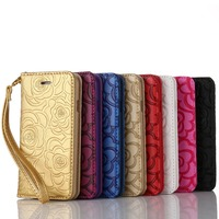 Factory Store PU Leather Case Rose Lines Girls Like Beautiful Case For Mobile Phone
