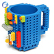 DIY Build-on Brick Legos style coffee mugs High quality plastic tea cup for christmas gifts