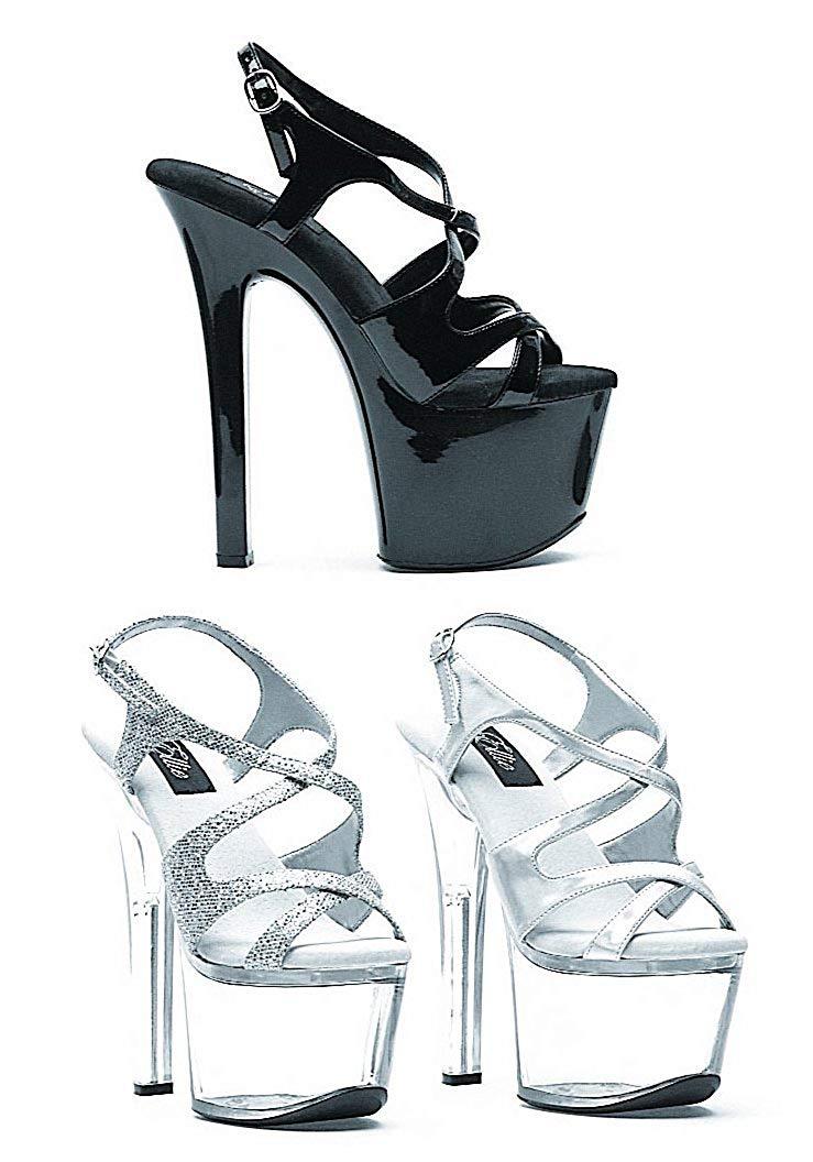 46c0cd86a552 Get Quotations · Ellie Shoes Women s 7 Inch Heel Silver Glitter Sandal