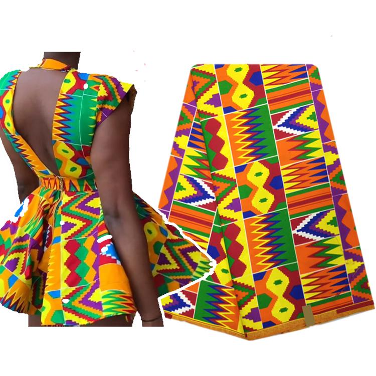Queency אפריקאי קנט אנקרה שעווה מודפס אפריקאי שעוות בד