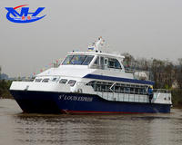92seats Fiberglass Passenger/Ferry / Crew Boat with cheap price