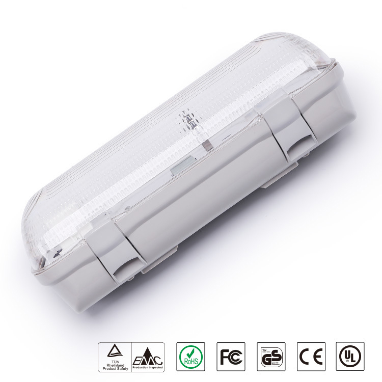 dlc 42W 4 led vapor tight fixture damp trip proof led light with sensor