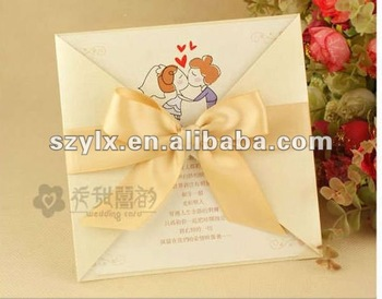 Wedding cards wording with ribbon offset printing buy wedding wedding cards wording with ribbon offset printing m4hsunfo