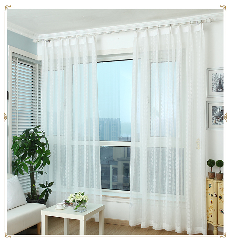 Best price of custom woven jacquard white curtains fabric for Best place to buy fabric for curtains